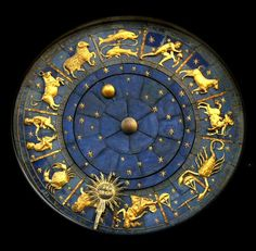 Zodiac clock with moon phases