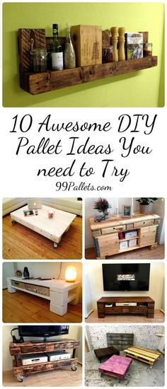 10 Awesome DIY Pallet Ideas You need to Try | 99 Pallets                                                                                                                                                                                 Mais