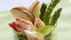 Kongekrabbe med asparges og sitronhollandaise - Godfisk