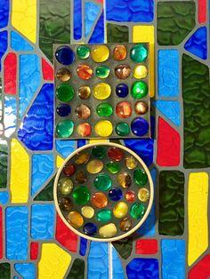 VTG 1960s MID Century Modern Rainbow Art Glass Stone Mosaic Tray Ardco Japan 2pc #Ardco Mosaic Tray, Mosaic Wall Art, Mosaic Tiles, Rainbow Art, Stone Mosaic, Mid-century Modern, 1960s, Glass Art, Goodies