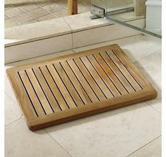 This is brand new teak Shower Mat (100% teak) sold at very low price. >> http://www.lynnwoodplace.com/teak-shower-mat-rectangular-with-rounded-corners-in-natural-teak