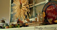 Thrifty Decorating: The fall slacker. . . .
