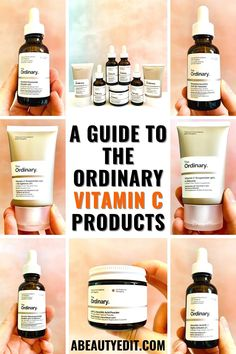 This guide to The Ordinary vitamin C skincare products reviews the benefits of The Ordinary's vitamin C (pure L-Ascorbic Acid and derivatives) products. This guide to The Ordinary vitamin C skincare products breaks down each formula, its benefits, and who it is best suited for. #theordinary #vitaminc #drugstoreskincare The Ordinary Vitamin C Guide, The Ordinary Skincare, Anti Aging Skin Care, Natural Skin Care, Topical Vitamin C, Greasy Skin, Anti Aging Treatments, Acne Skin, Skin Brightening