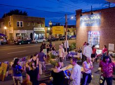 NoDa neighborhood:  art (attend a gallery crawl), live music, awesome beer & wine/food/desserts at places like Cabo Fish Taco, Crepe Cellar, and Amelie's French Bakery