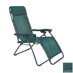 Jordan Manufacturing�Sling Seat Plastic Patio Chaise Lounge with Green Cushion