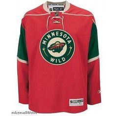 Minnesota Wild YOUTH Reebok Premier 7185 HOME Red Jersey 28ebe5de7
