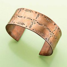 Just make certain to pick cuff bracelets that are made from metal products and be available in clean, not-too hectic styles for more flexibility. Copper Jewelry, Fine Jewelry, Jewelry Making, Jewellery, Stamped Jewelry, Handmade Jewelry, Jewelry Stamping, Custom Jewelry, Fashion Bracelets