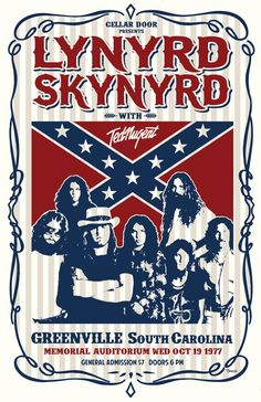 This is my rendition of a poster for a Lynyrd Skynyrd concert in The times, dates, and places are real. The artwork is mine. Printed on premium glossy photo paper for deep blacks and vivid colors. Tour Posters, Band Posters, Blues Rock, Woodstock, Lynard Skynard, Ronnie Van Zant, Vintage Concert Posters, Rockn Roll, Punk