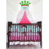 If you love bright colors like me, you'll fall in love with this set. Maybe Napoleon would've bought this crib set for his baby. It's just so winning!