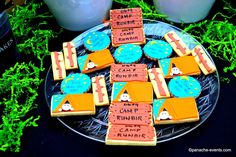Amazing cookies at a camping birthday party! See more party planning ideas at CatchMyParty.com!