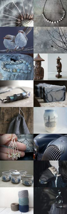 Blue gray is here to stay! by Dorothy Walker on Etsy--Pinned with TreasuryPin.com