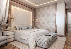 Modern Classic Bedroom, Modern Luxury Bedroom, Luxury Bedroom Design, Modern Bedroom Decor, Bedroom Furniture Design, Home Room Design, Master Bedroom Design, Luxury Home Decor, Luxurious Bedrooms