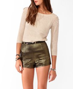 Pearlescent Sleeve Sweater   FOREVER21 - 2021840192