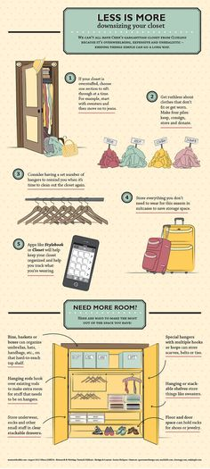 "fashioninfographics: ""Downsizing your closet - Less is More Via """