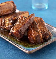Travers de porc caramélisés au miel - les meilleures recettes de cuisine d'Ôdélices