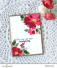 Hello crafty friends, happy Sunday! It's Yoonsun here to share my flower cards…