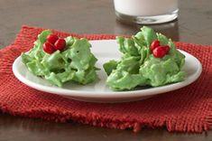 No-Bake Holly Cookies