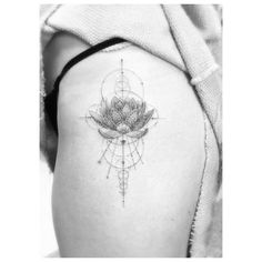 Geometric Lotus Tattoo                                                                                                                                                     More