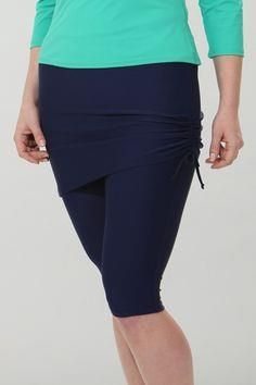 Plus size running sk     Plus size running skirt with built in capris now on sale for $39. Available in sizes 1X-4X.