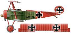 Fokker Dr.I Unit: Jasta 11, JG I Serial: Dr.152/17 Pilot - Ritt Manfred von Richthofen. France, March 1918.