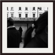 Gloucester Road, London Photography, Candid Photo, Street Art, Street Photography, Herald Tribune, Black And White, England Photography, Art by AmadeusLong on Etsy