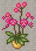 one day, a grid- un jour, une grille - Tiny Cross Stitch, Cross Stitch Borders, Cross Stitch Flowers, Cross Stitch Designs, Cross Stitching, Cross Stitch Embroidery, Hand Embroidery, Cross Stitch Patterns, Embroidery Designs
