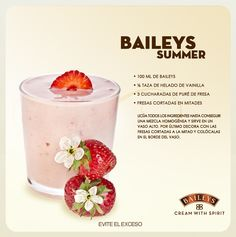 Baileys Summer #drinks #recipes #strawberry