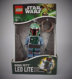 Star Wars - Boba Fett - Mini Figure - Lego - 3  - LED Light - Torch - Keyring Star Wars Boba Fett, For Stars, Lego, Lunch Box, Mini, Ebay, Birds, Flashlight, Legos