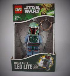 Star Wars - Boba Fett - Mini Figure - Lego - 3  - LED Light - Torch - Keyring