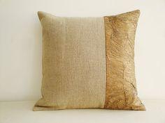 Linen Metallic Bronze Pillow Cover , Decorative Pillow , Throw Pillow , Cushion Cover