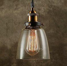 Modern Vintage Industrial Metal Bronze Glass Ceiling Lamp Shade Pendant Light 2015 NEW Edition LOMT http://www.amazon.com/dp/B0112KFJA2/ref=cm_sw_r_pi_dp_b3Lexb09AADQK