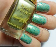 """""""This is Mavala Lagoon stamped with Barry M Gold Foil and BM212."""""""