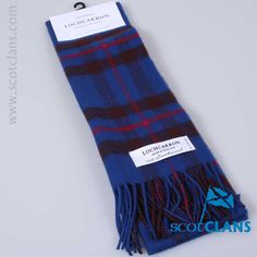 Pure lambswool scarf in Elliot modern tartan - from ScotClans