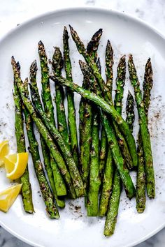 Tender, smoky, and sweet, the best grilled asparagus is simply tossed in olive oil with salt and pepepr for the perfect healthy side dish. Asparagus On The Bbq, Best Asparagus Recipe, Grilled Vegetables, Veggies, Asparagus Dishes, Grilling Sides, Vegan Grilling, Grilling Recipes, Grilling