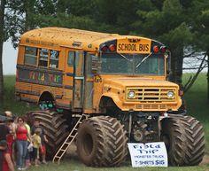 here is a Michigan school bus Chevy Pickup Trucks, 4x4 Trucks, Custom Trucks, Lifted Trucks, Cool Trucks, Custom Cars, Mudding Trucks, Customised Trucks, Old School Bus