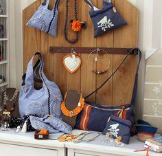 sac à main et tote bag en toile coton bleu collection été 2013