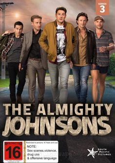 Buy The Almighty Johnsons Series 3 on DVD at Mighty Ape NZ. The Almighty Johnsons TV Show is a comedy-drama series from the makers of Outrageous Fortune – about four brothers who just happen to be descended fro. Drama Series, Series 3, No Ordinary Family, The Almighty Johnsons, Northern Exposure, Sibling Rivalry, Normal Life, Character Development, Adult Humor