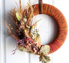 Make your own wreath for fall! I love this one!