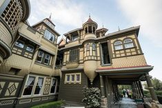 Winchester Mystery House In San Jose, CA - California Through My Lens Winchester Mystery House, Strange Places, Weird And Wonderful, San Jose, Brick Wall, San Francisco, Victorian, California, Mansions