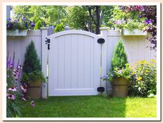 residential pvc fence