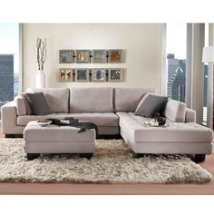 VEGAS FABRIC SECTIONAL - SECTIONALS - Living room - New York Style Furniture - Mobilia Living with Style