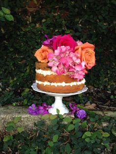Spring naked cake by Two Sweets Bake Shop (http://www.lovetwosweets.com)