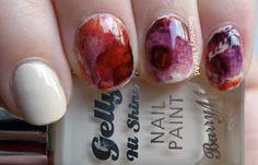 Secretary`s Nail Art: Barry M - Cream Soda, marbled nail art using OPI…