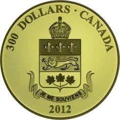 300 Dollar Gold Wappen - Quebec PP
