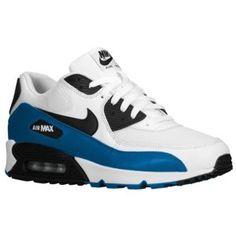 Nike Air Max 90 - Men's - White/Black/Military Blue/Neutral Grey