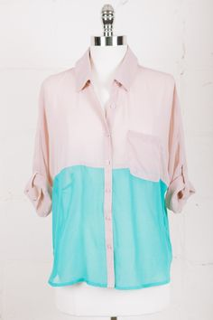 Parc Boutique I Dipped In Mint Blouse