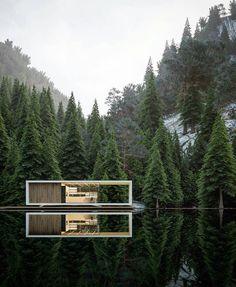 869 отметок «Нравится», 3 комментариев — Design + Magazine (@designplusmag) в Instagram: «Stavanger House by Alex Nerovnya @alex_nerovnya  #house #housedesign #visualization #visualize…»