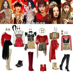 Kpop Fashion Outfits, Stage Outfits, Edgy Outfits, Dance Outfits, Pretty Outfits, Cute Outfits, Kpop Girl Groups, Kpop Girls, Inspire Dance