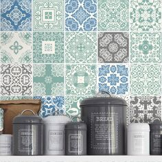 Blue Pastel Tile Stickers. Buy online today at Bouf