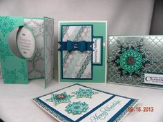 Festive Flurries Christmas Card, stampin up, Holiday Catalog 2013 Stamped Christmas Cards, Christmas Paper Crafts, Stampin Up Christmas, Xmas Cards, Christmas Christmas, Holiday Cards, Christmas Ideas, Snowflake Cards, Snowflakes